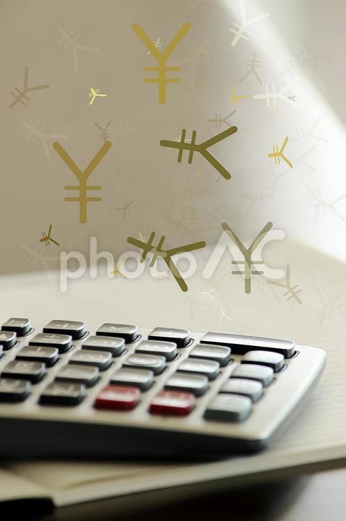 お金の計算の写真