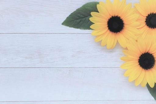 Sunflower summer sunflower flower frame background