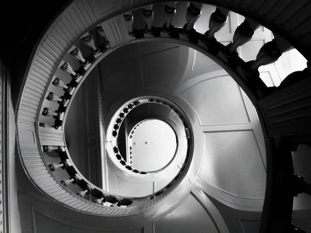 Spiral staircase in the German museum