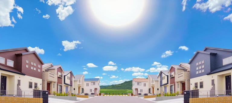 Newly built detached house New Town For-sale land Advertising material