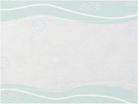 與綠色竹波浪紋的日本紙紋理_柔和的顏色日本現代背景材料