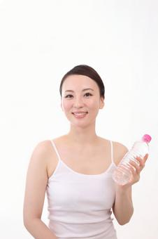Female with PET bottle 22