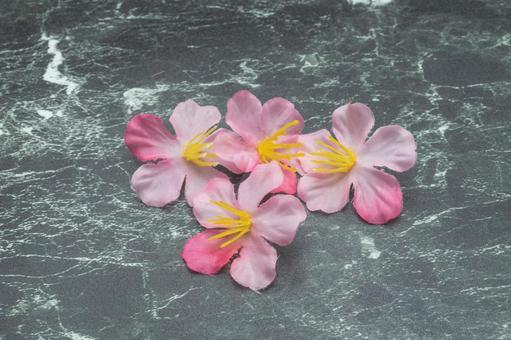 대리석과 벚꽃
