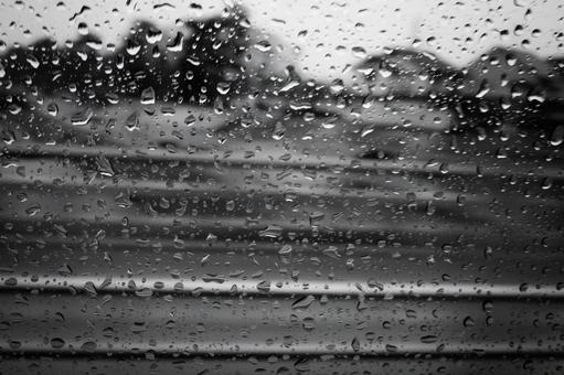 유리창 물방울 비