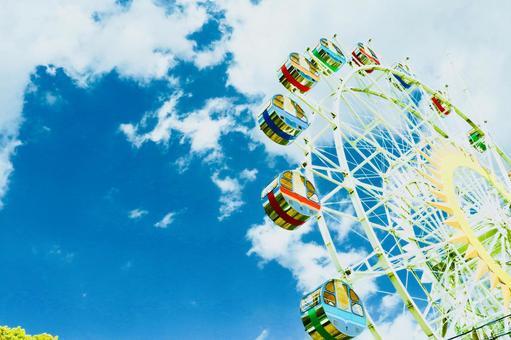 Ferris wheel and the sky