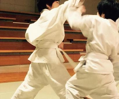 Children practicing Karate 2