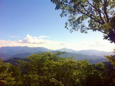 카오산에서의 산맥