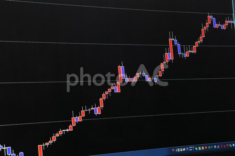 チャート 上昇の写真