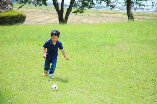 Children playing soccer 4
