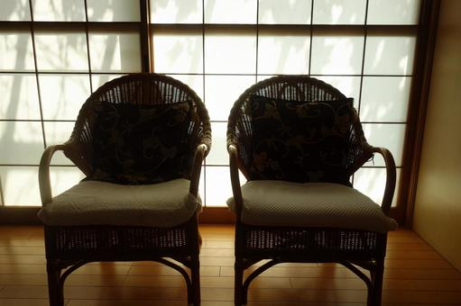 Chair in front of shoji