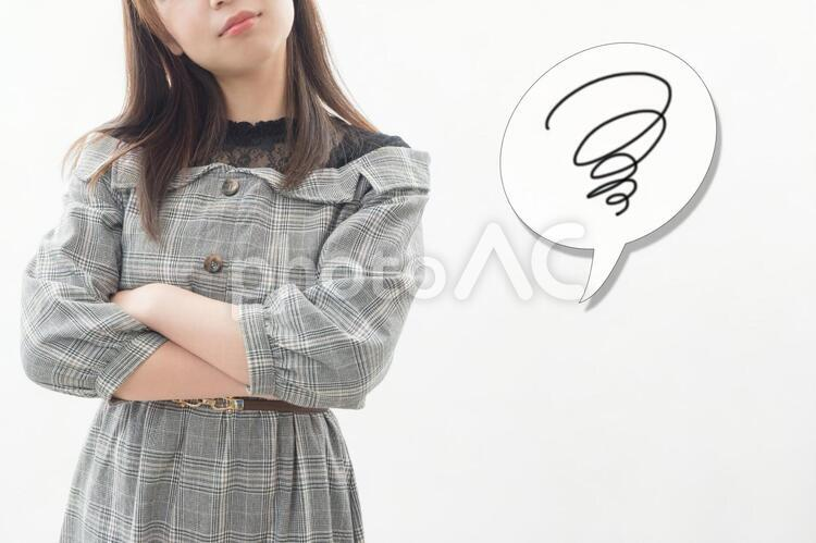 ストレス 悩み 女性のイメージの写真
