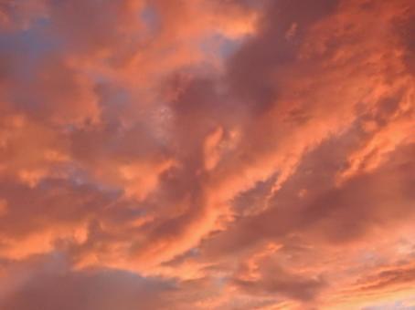 Sunset cloud at typhoon