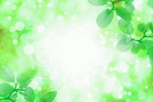 Fresh green sunbeams image | Glitter background material