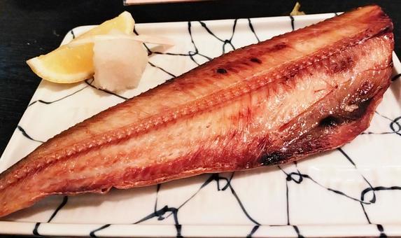 Grilled atka mackerel with salt