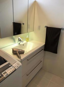 Washbasin and dryer