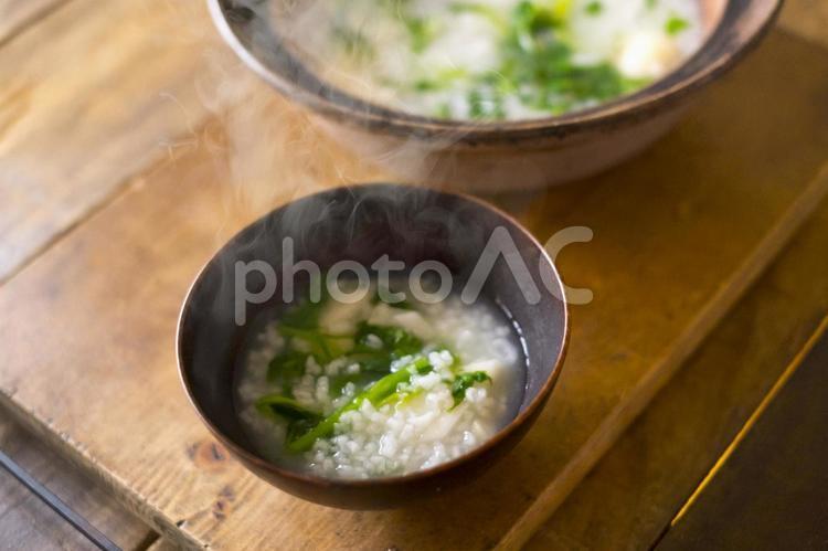 春の七草粥の写真