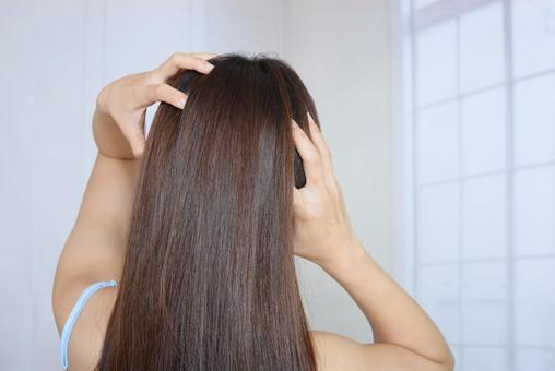 Female head massage