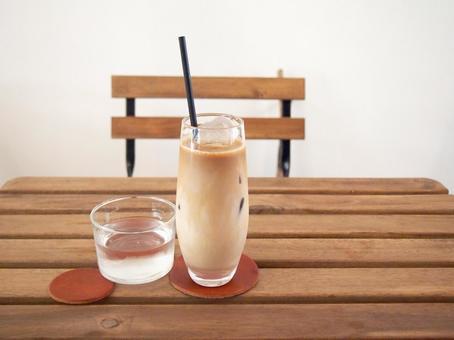 Ice cafe au lait. 05