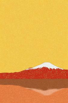 Red Fuji for New Year's cards (vertical)-PSD