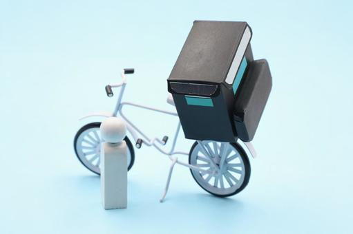 Food delivery deliveryman image