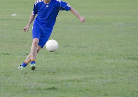 축구를하고있는 풍경