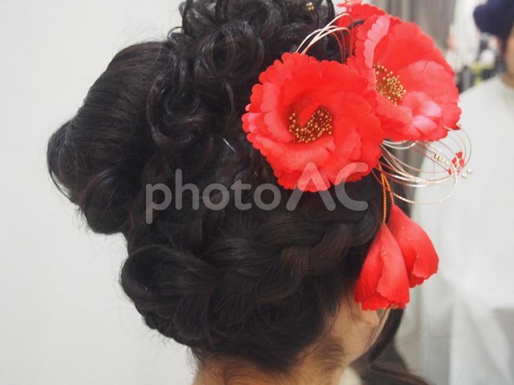日本髪の写真