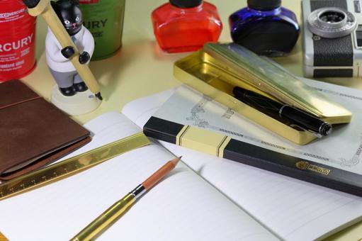 Brass writing instrument
