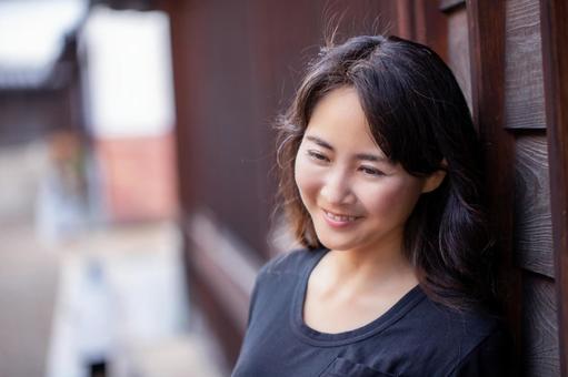 Smile woman portrait