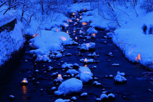 Otaru snow light path (Asuri River venue) 2