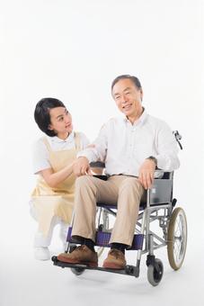 Men and nurses on a wheelchair 10