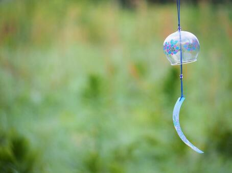 Image of glass wind chimes