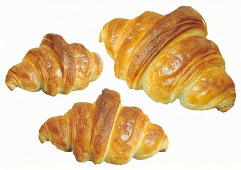 Croissant set clipping material