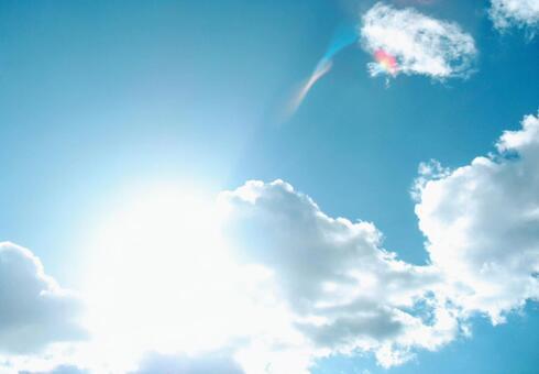 Empty sun cloud