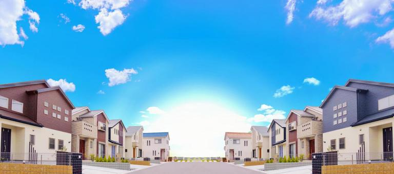 New Housing Detached Townscape New Town Condominium Advertising Material
