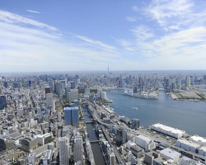Aerial shooting in Tokyo