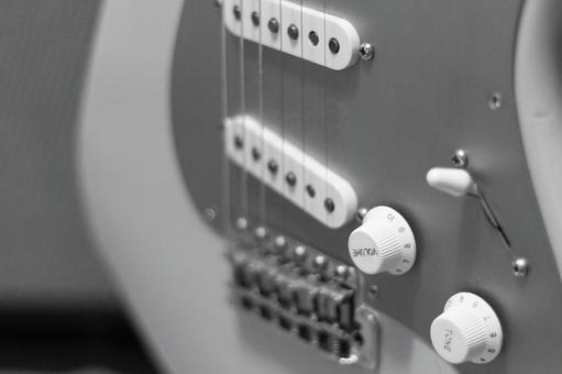 Electric guitar body B & W