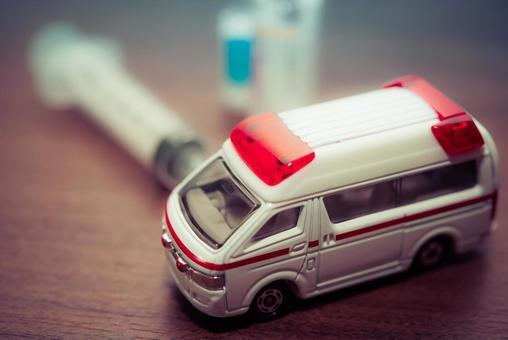 Ambulance and medicine