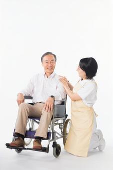 Men and nurses on a wheelchair 7