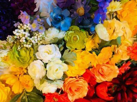 Colorful vivid happy flower