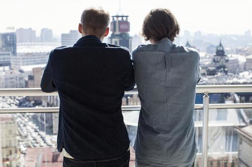 同性戀伴侶12是在陽台