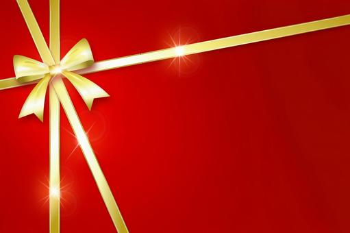 Gold ribbon_Valentine and other background materials