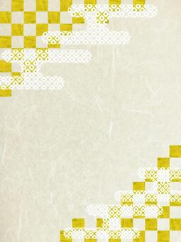 Japanese paper texture background material with checkered pattern and cloud Japanese pattern
