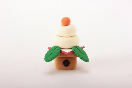 New Year's card Kagami mochi 6