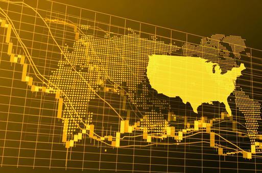 American golden digital stock chart image