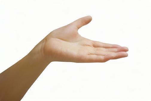 Female hand background transparent