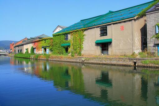 小樽運河/夏天/中午