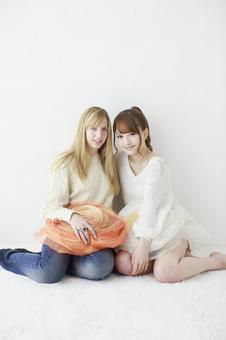 Female friend Foreigner and Japanese 16