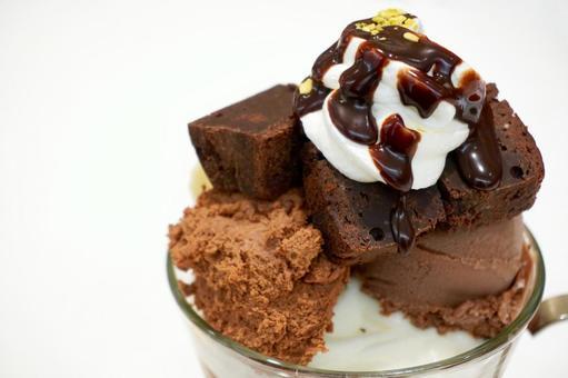 Rich chocolate parfait up