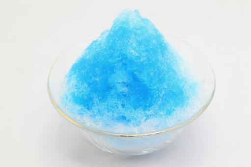 刨冰藍色夏威夷蘇打夏天圖像