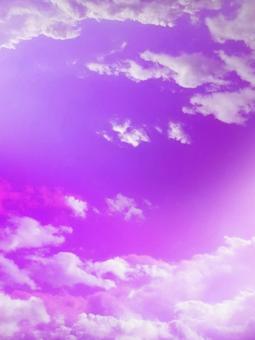 보라색 하늘 소재 구름